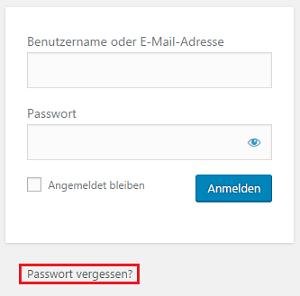 Blog das WordPress Admin Passwort richtig zurücksetzen 01