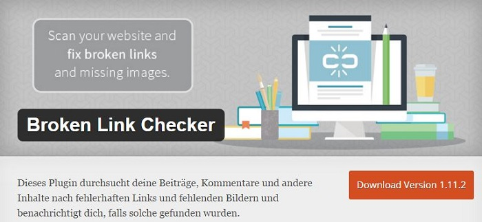 Blog die besten Plugins für WordPress von A bis Z kostenlos 02 Broken Link Checker