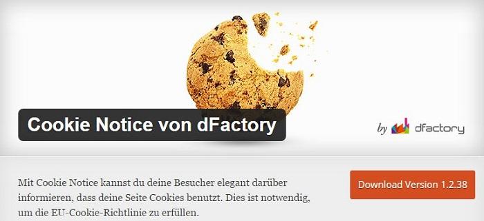 Blog die besten Plugins für WordPress von A bis Z kostenlos 05 Cookie Notice von dFactory