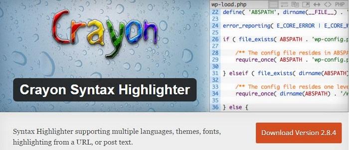Blog die besten Plugins für WordPress von A bis Z kostenlos 06 Crayon Syntax Highlighter