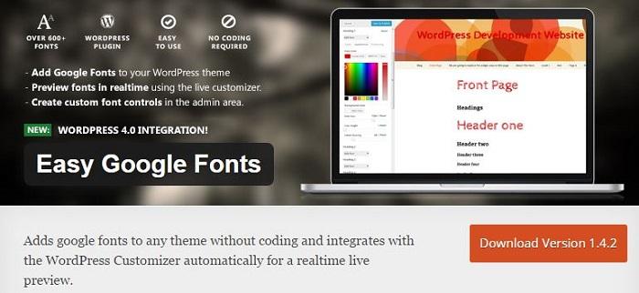 Blog die besten Plugins für WordPress von A bis Z kostenlos 11 Easy Google Fonts
