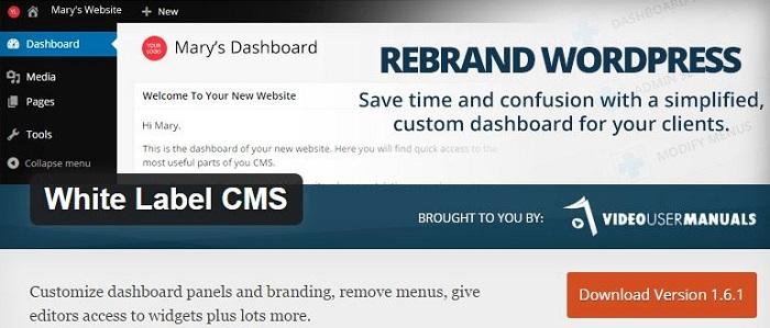 Blog die besten Plugins für WordPress von A bis Z kostenlos 23 White Label CMS