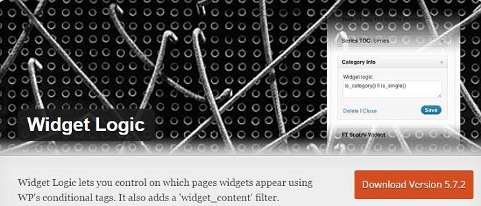 Blog die besten Plugins für WordPress von A bis Z kostenlos 24 Widget Logic