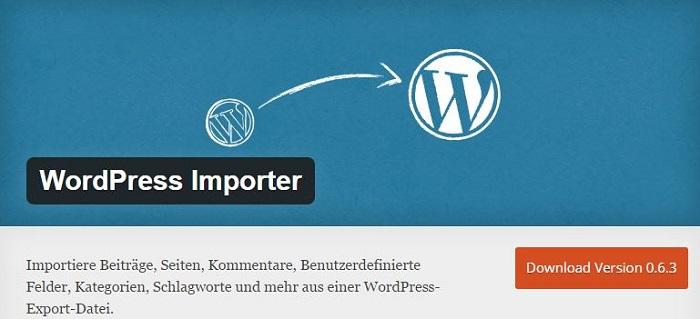 Blog die besten Plugins für WordPress von A bis Z kostenlos 26 WordPress Importer