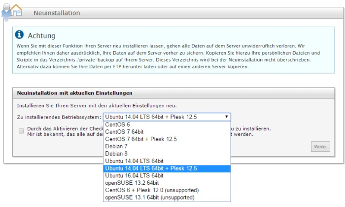 Strato Domain ändern installation ubuntu mit plesk onyx und domain default page ändern