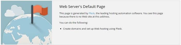 Blog Installation Ubuntu mit Plesk Onyx und Domain Default Page ändern 02