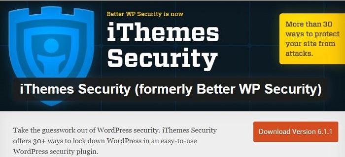 Blog kostenlose Backup und Sicherheit Plugins für WordPress 01 iThemes Security