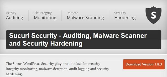 Blog kostenlose Backup und Sicherheit Plugins für WordPress 02 Sucuri Security Auditing Malware Scanner and Security Hardening