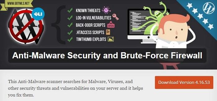 Blog kostenlose Backup und Sicherheit Plugins für WordPress 04_Anti Malware Securtiy and Brute Force Firewall