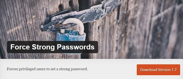 Blog kostenlose Backup und Sicherheit Plugins für WordPress 07 Force Strong Passwords