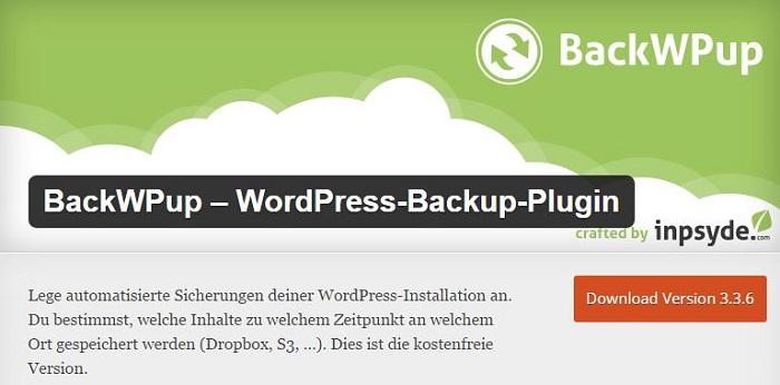 Blog kostenlose Backup und Sicherheit Plugins für WordPress 13 BackWPup WordPress Backup Plugin