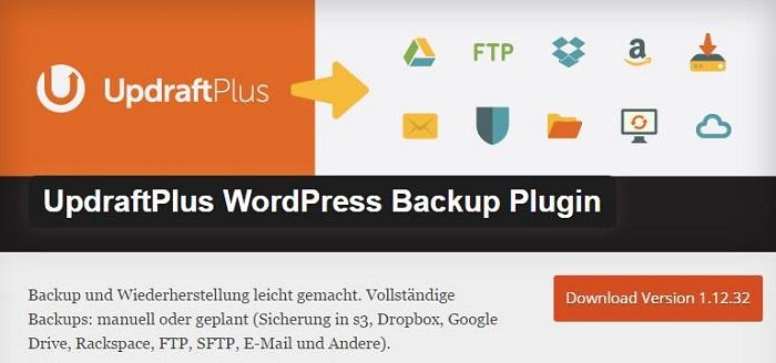 Blog kostenlose Backup und Sicherheit Plugins für WordPress 14 UpdraftPlus WordPress Backup Plugin