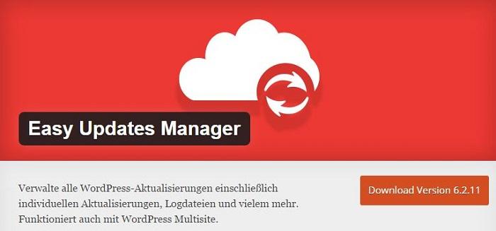 Blog kostenlose Backup und Sicherheit Plugins für WordPress 15 Easy Update Manager