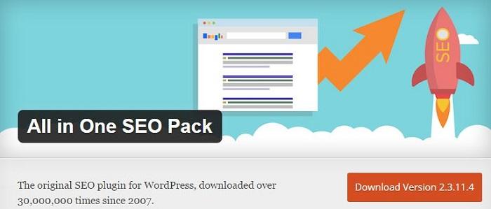 Blog kostenlose Cache Image Minify Social-Media und SEO Plugins für WordPress 01 All In One SEO Pack