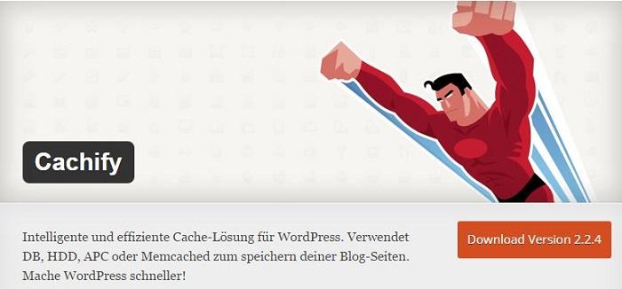Blog kostenlose Cache Image Minify Social-Media und SEO Plugins für WordPress 04 Cachify