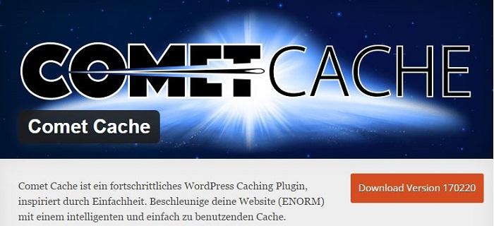 Blog kostenlose Cache Image Minify Social-Media und SEO Plugins für WordPress 05 Comet Cache