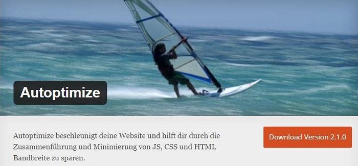 Blog kostenlose Cache Image Minify Social-Media und SEO Plugins für WordPress 08 Autoptimize