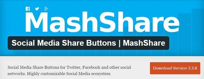 Blog kostenlose Cache Image Minify Social-Media und SEO Plugins für WordPress 15 Social Media Share Buttons Mashshare