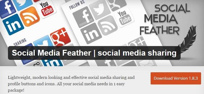Blog kostenlose Cache Image Minify Social-Media und SEO Plugins für WordPress 17 Social Media Feather Social Media Sharing