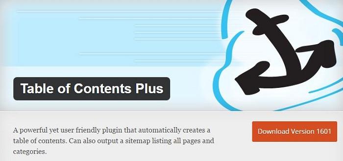 Blog kostenlose Cache Image Minify Social-Media und SEO Plugins für WordPress 20 Table of Content Plus