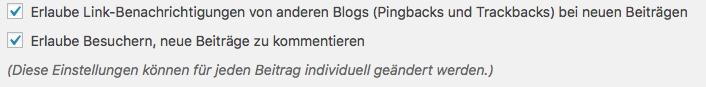 Blog nachträglich WordPress Kommentare deaktivieren oder aktivieren 01