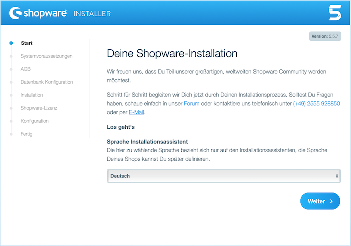 Blog Shopware 5 auf dem eigenen Webhostingpaket installieren 01