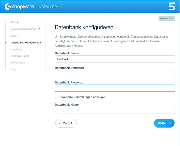 Blog Shopware 5 auf dem eigenen Webhostingpaket installieren 03
