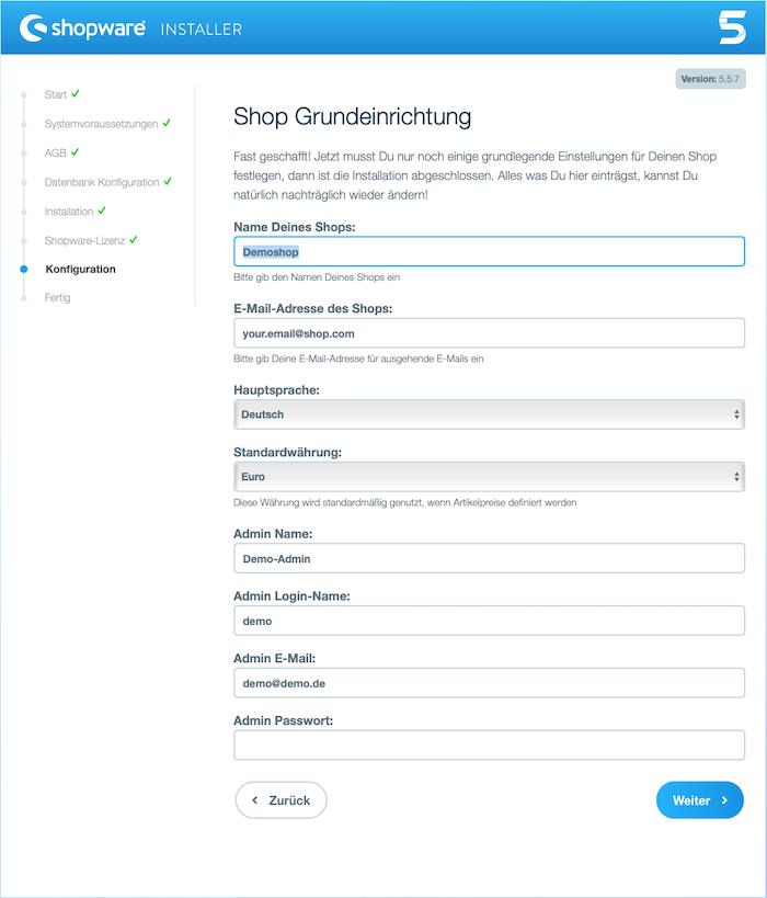 Blog Shopware 5 auf dem eigenen Webhostingpaket installieren 05