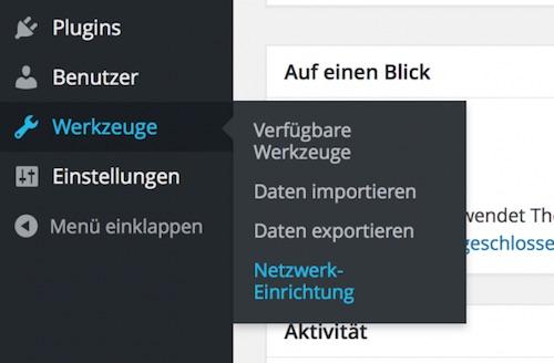 Blog WordPress Multisite Netzwerk installieren und konfigurieren 01
