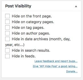 Blog WordPress Seite oder Beitrag verstecken oder schützen 01