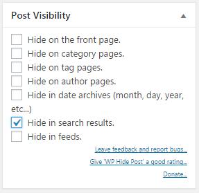 Blog WordPress Seite oder Beitrag verstecken oder schützen 03