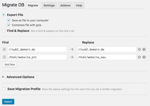 Blog WordPress umziehen inklusive Domain und Server Änderung 02